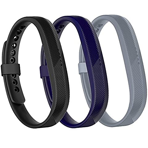 Fitbit Flex 2 Bands, SnowCinda Silicone Replacement Wristbands Strap with Metal Clasps and Fasteners for Fitbit Flex - 170 Mm Arm Set