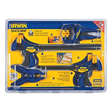IRWIN QUICK-GRIP Clamp Set, 8 Piece, 4935502