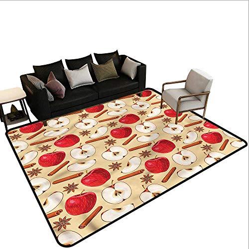 - Apple,Kitchen Room Floor Mat Rug 48