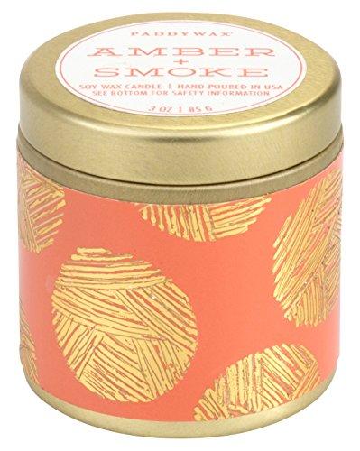 Paddywax Candles Kaleidoscope Collection Travel Tin Candle, Amber & Smoke Amber and Smoke