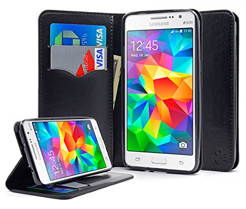Galaxy Grand Prime Case, NageBee - Wallet Flip Case Pouch Cover Fold Stand case Premium Leather Wallet Flip Case for Samsung Galaxy Grand Prime with free Microfiber Cleaning Cloth