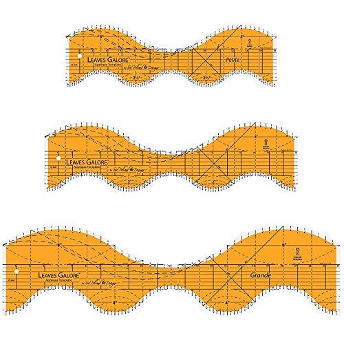 Sue Pelland Designs Leaves Galore 3-Piece Template Set - Grande, Norme, and - Petite Grande La