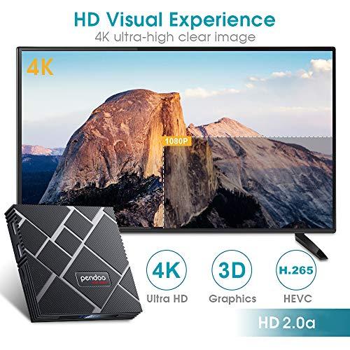 pendoo Android 90 TV Box 4GB RAM 64GB ROM X10 MAX Android TV Box RK3318 QuadCore 64Bits Dual WiFi
