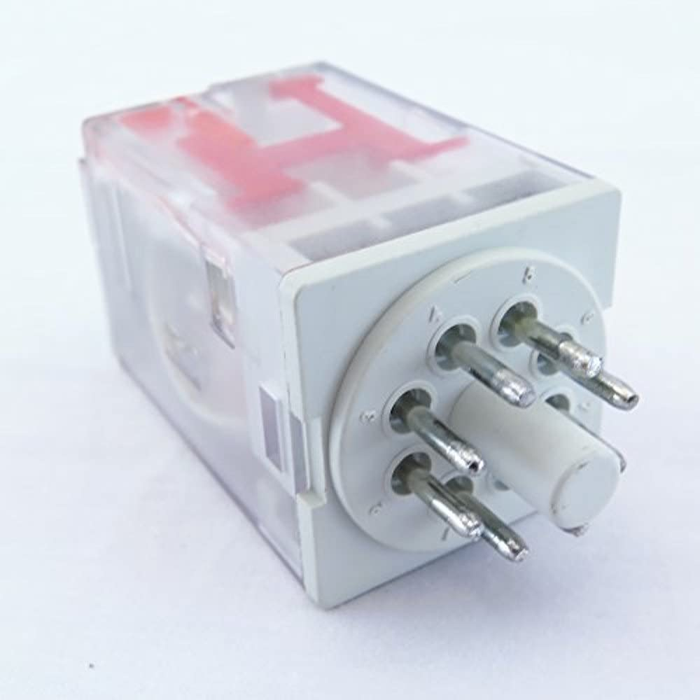 YuCo YC-Rep-2P10-3 Ice Cube General Purpose Relay Octal Base 8 Pin 2 PDT 10Amp 220//240VAC 50//60 Hz AC-Coil