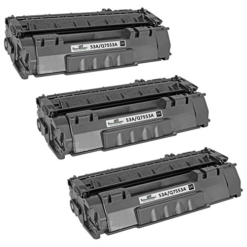 Speedy Inks - 3pk Remanufactured Replacement for HP 53A Q7553A Black Laser Toner Cartridge for use in HP LaserJet P2015, HP LaserJet P2015d, HP LaserJet P2015dn, HP LaserJet P2015x