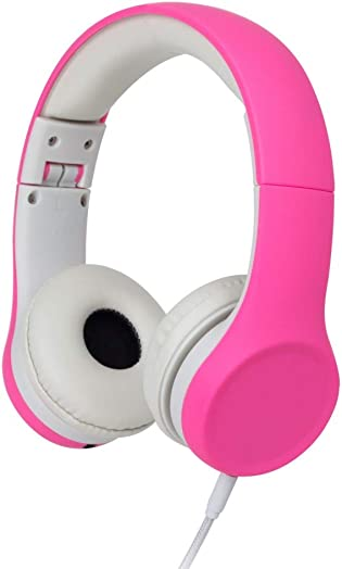 Snug Play Kids Headphones Volume Limiting and Audio Sharing Port Pink