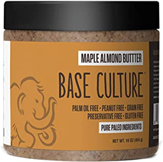 product image for Paleo Almond Butter, Maple Almond, 100% Paleo Certified and Gluten Free Almond Butter, 6g Protein Per Serving, Crafted by Base Culture (6 Count)