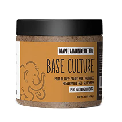 Amazon.com : Paleo Almond Butter, Maple Almond, 100% Paleo Certified and  Gluten Free Almond Butter, 6g Protein Per Serving, Crafted by Base Culture