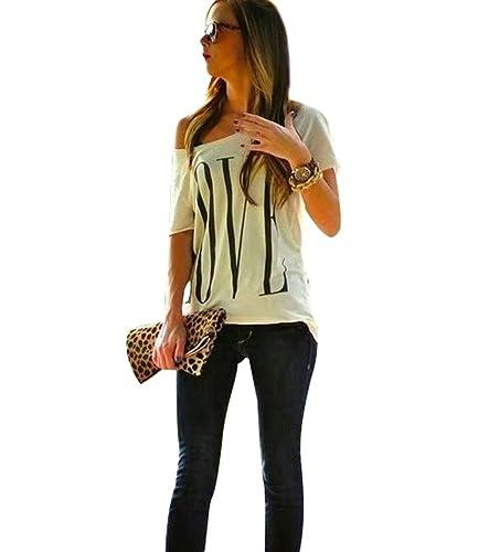 Maglietta T Shirt Donna Magliette Maniche Corte Camicie Top Estive Blusa Eleganti Divertenti Magliet...