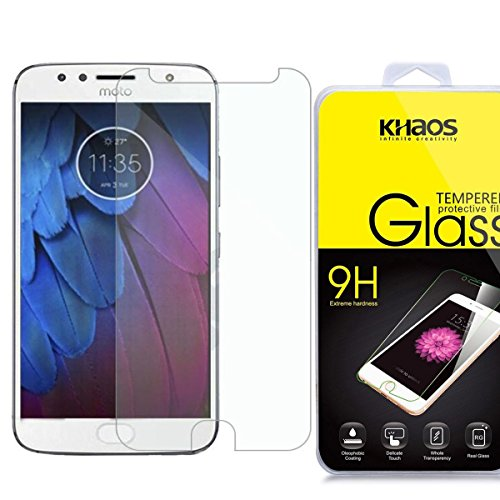 Khaos For Motorola Moto G5S Plus HD Clear Tempered Glass Screen Protector with Lifetime Replacement Warranty