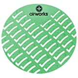 Hospeco Airworks AWUS005 Dark Green Evergreen Urinal Screen (6 Boxes of 10)