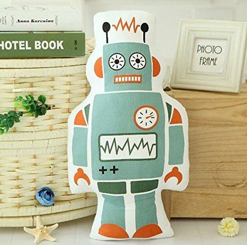 Kids Doll Baby Plush Toy Stuffed Robot Pillow Home Decor Robot 50x30cm/19.7x11.8