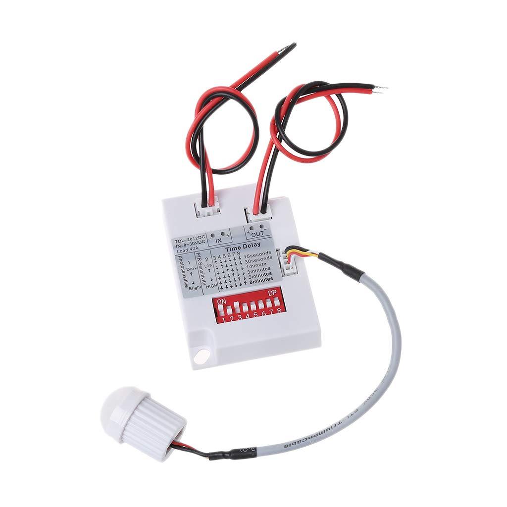 BIlinli PIR Interruptor de Sensor de Movimiento TDL-2012 IR Detector de Inducción de Cuerpo Infrarrojo Interruptor de Inducción Interruptor de Sensor de ...