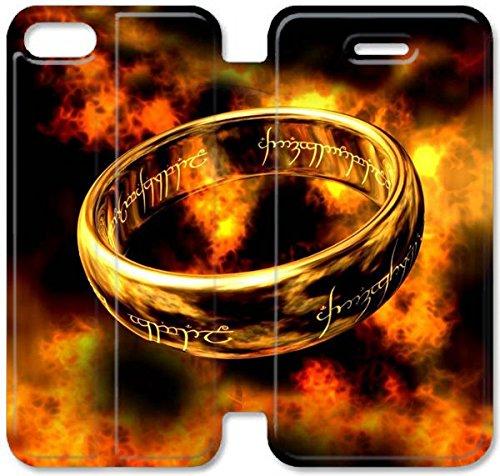 Flip étui en cuir PU Stand pour Coque iPhone 5 5S, bricolage 5 5S étui de téléphone cellulaire Seigneur Des Anneaux K6N1KM Coque Case personnalisée de protection