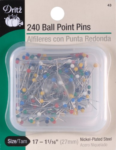 350-Count Dritz 12 Ball Point Pins 1-1//16-Inch