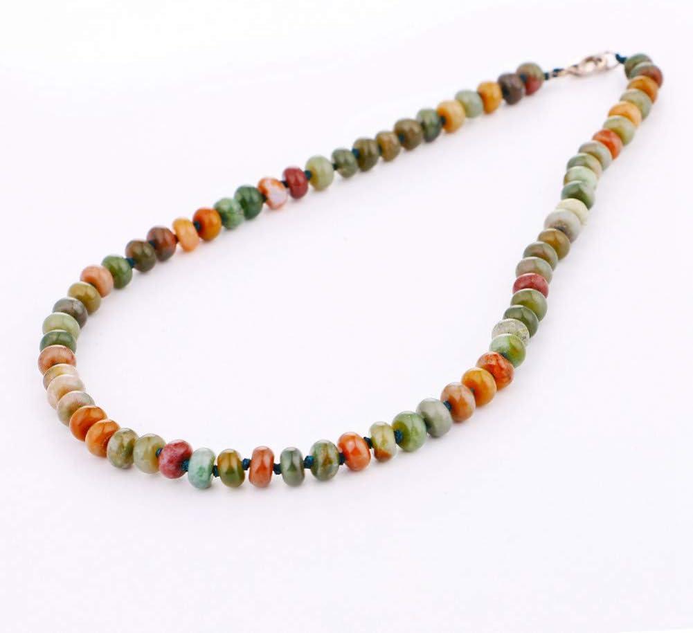AOKIGN Collar De Jade Mujer Cuentas Redondas Naturales Gargantilla Joyas De Piedras Preciosas
