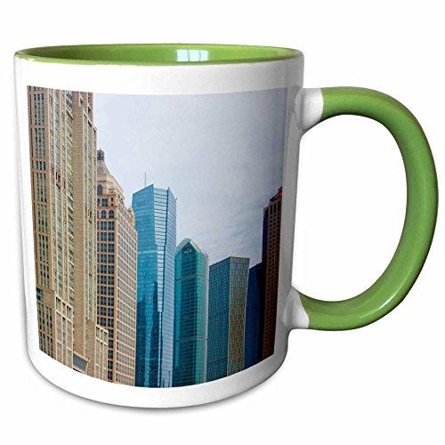 (3dRose Danita Delimont - China - Lujiazui Financial District, Pudong, Shanghai, China - AS07 KSU1388 - Keren Su - 15oz Two-Tone Green Mug (mug_132418_12))