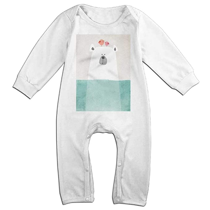 0de859d3e Amazon.com  Lalamin Cartoon Polar Bear in Water Cotton Jumpsuit ...