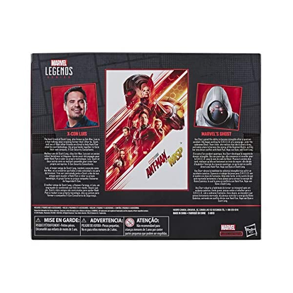 """511A16ojz4L Marvel Legends Series Ant-Man & The Wasp 6""""-Scale Movie-Inspired X-Con Luis & Marvel's Ghost Collectible Action Figure 2 Pack"""