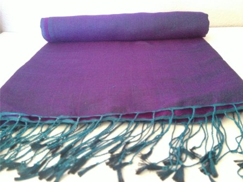 Nepal Pashmina Reversible Purple Inches