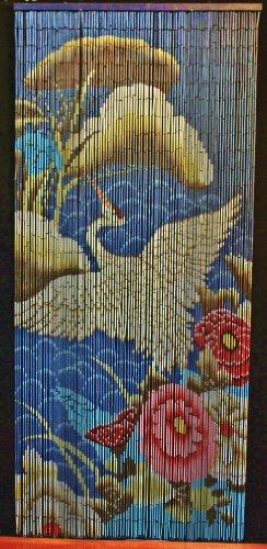 Bamboo Beaded Curtain Crane Bird Door Way Doorway Room Divider 90 Strands NT/BB-03
