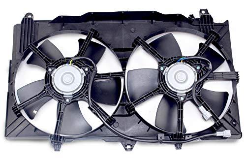 MYSMOT Dual Radiator A/C Condenser Cooling Fan Motor Assembly for 2003-2006 Nissan 350Z / 2003-2006 Infiniti G35 Sedan / 2003-2007 Infiniti G35 Coupe 21487-CD00A ()