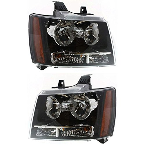 TIFFIN PHAETON 2008-2010 RV Motorhome Pair (Left & Right) Black Headlights NEW