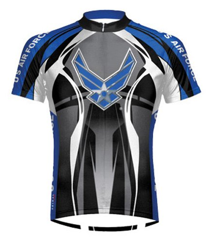 (Primal Wear Men's Air Force Stealth Short Sleeve Cycling Jersey - AFT1J20M (Air Force Stealth - L))