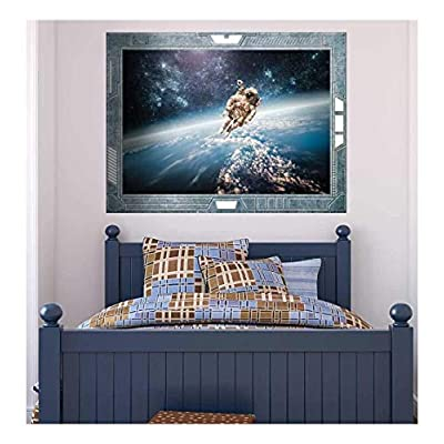 Handsome Creative Design, Premium Product, Science Fiction ViewPort Decal Face to Face with a Rocket Man Wall Mural