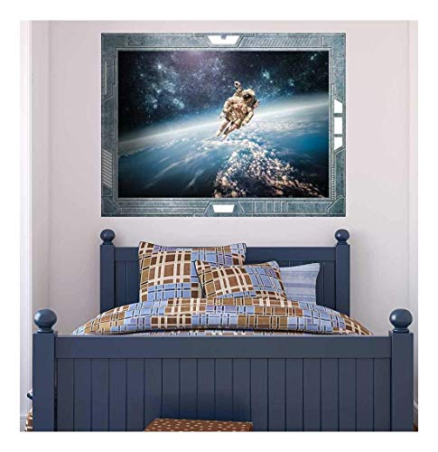 Science Fiction ViewPort Decal Face to Face with a Rocket Man Wall Mural