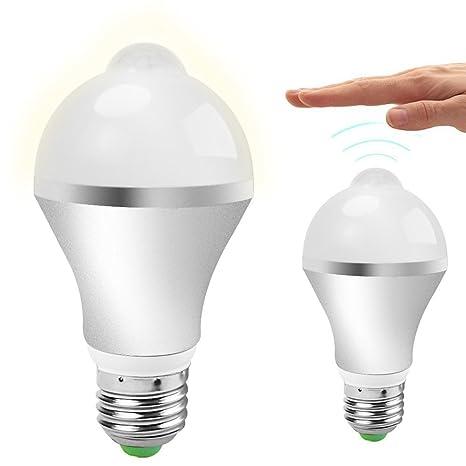 [Clase de Eficiencia Energética A+] Bombillas LED,QPAU E27 14 LED PIR Infrared