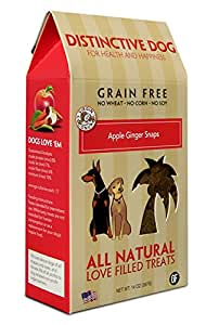 Amazon.com : Distinctive Dog Apple Ginger Snap Dog Treats