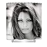 Pixels Shower Curtain (74'' x 71'') ''Sophia Loren''