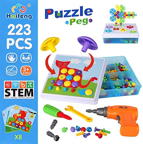 223 Piece Creative Mosaic Drill Puzzle Kit, Electric Drill ...