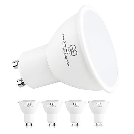 Bombilla LED GU10 de 5 W, 2700 K, luz blanca cálida, 32 W