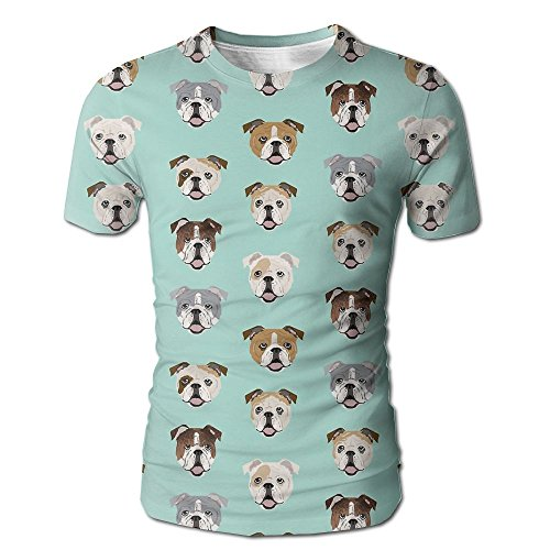 Men's Stupid Funny English Bulldog T Shirt Stylish Short Sleeve Tee - Shop Free Poker Discount Shipping