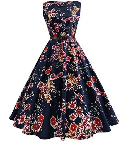 As1 Dress Waist Retrol Round Women's Accept Comfy Neck Crewneck t0a861qwxn