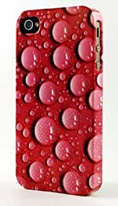 Water Drops On Lavender Background Dimensional Case Fits iPhone 4 or iPhone 4s