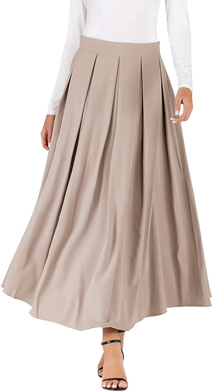 beautyjourney Falda Larga Elegante de una línea de Mujer Falda ...