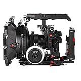 JTZ DP30 Camera Cage 15mm Rail Rod Baseplate Rig+ 4×4'' Carbon Fiber Matte Box+ Follow Focus+ Power Supply (LE Version) for SONY A7,A7II,A7R,A7RII,A7S,A7SII DSLR Camera