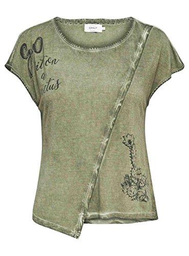 Camiseta Only Lea Verde Verde