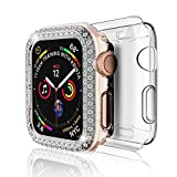 DSYTOM Case Compatible with Apple Watch 42mm, Bling PC Full Cover Bumper & TPU Soft Screen Protector Case for iWatch Series 3/2/1 Women Girl,2 Pack