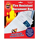 Fire Resistant Document Bag Safe Storage Cash Jewelry Passport 10''X15'' fireproof