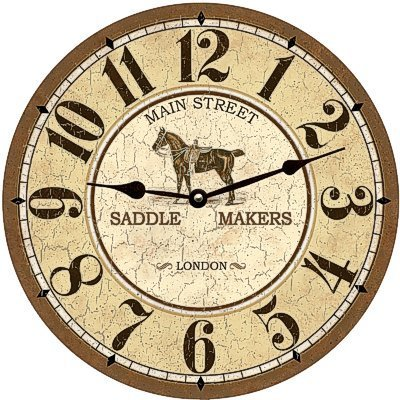 Main Street Saddle Makers Clock