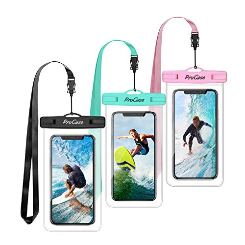 ProCase Universal Waterproof Pouch Cellphone Dry Bag Underwater Case for iPhone Xs Max XR X 8 7 6S Plus, Galaxy Note 10 + S10 Plus S9 S8 + Note 9 8, Pixel 3 2 XL up to 6.8