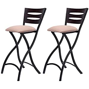Costway set of 2 folding bar stools counter - Amazon bedroom chairs and stools ...