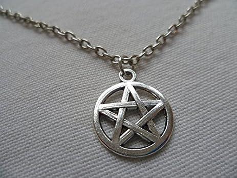 Amazon pentagram necklace pentacle necklacesmall silver pentagram necklace pentacle necklacesmall silver pentagram necklace wiccan pagan wiccan aloadofball Images