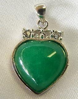Amazon chinese jade heart pendants jewelry jade heart pendants mozeypictures Choice Image