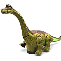 FunBlast Kid's Battery Operated Walking, Moving Dinosaur Toy with Flashing Lights and Realistic Dinosaur-Sounds, Available in 2 Colours (Green)