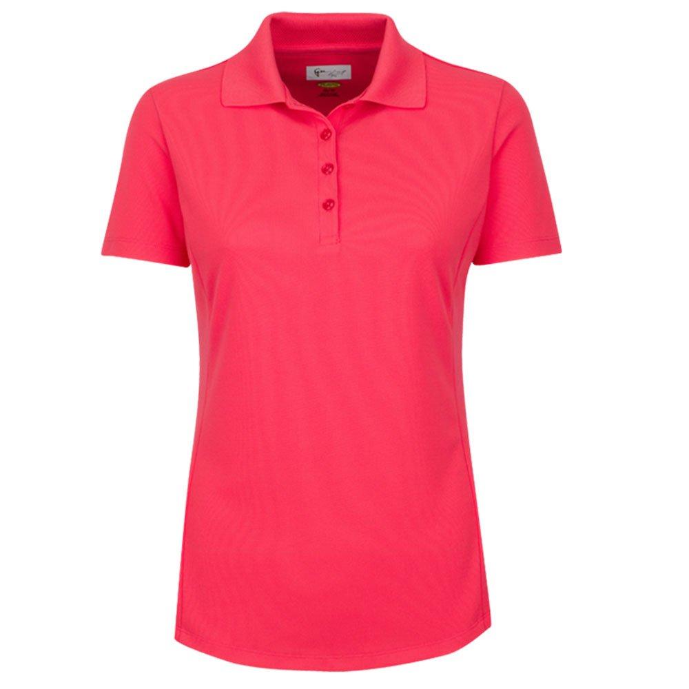 Greg Norman Short Sleeve Protek Micro Pique Golf Polo 2018 Women Calypso Coral X-Small